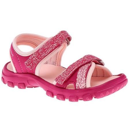 QUECHUA - EU 24-25  MH100 Kid's hiking sandals kid, Bright Pink