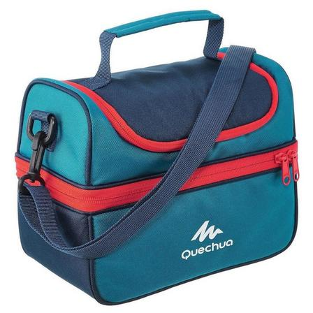 QUECHUA - Unique Size  Insulated lunch box - 2 food boxes included - 4.4 L, Deep Petrol Blue