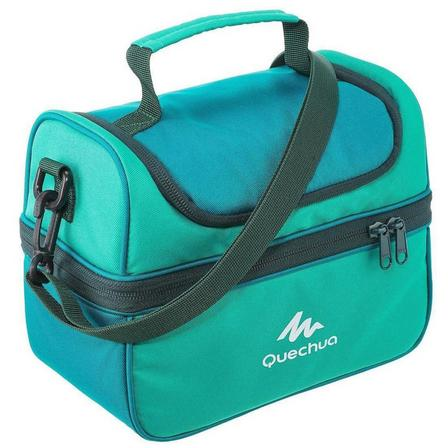 QUECHUA - Unique Size  Insulated lunch box - 2 food boxes included - 4.4 L, Caribbean Green