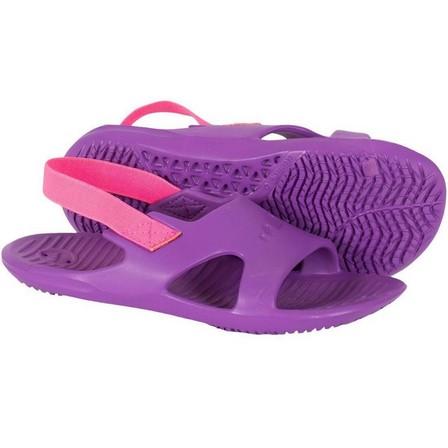 NABAIJI - EU 33-34  GIRLS' POOL ALS SLAP BASIC 100, Purple