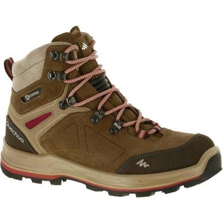 FORCLAZ - EU 41  Women's High Waterproof Leather Boots Trekking 100 Ontrail, Brown