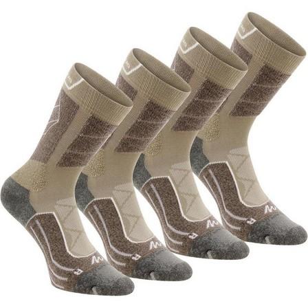 QUECHUA - EU 39-42  High Mountain Hiking Socks. MH 900 2 Pairs, Dark Sand