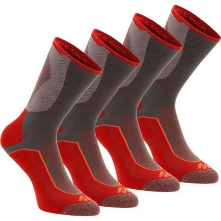 QUECHUA - EU 43-46  High Mountain Hiking Socks. MH 520 2 Pairs, Granite