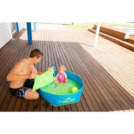 NABAIJI - Unique Size  TIDIPOOL 88.5 diameter kids paddling pool with waterproof carry bag, Blue
