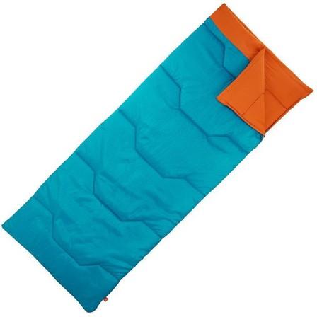 QUECHUA - 190Cm/74,8In Arpenaz 15°C Camping Sleeping Bag - Dark Petrol Blue