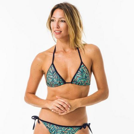 OLAIAN - Small/Medium  Women'S Mae Rama Triangle Swimsuit Top With Removable Padded Cups., Dark Blue