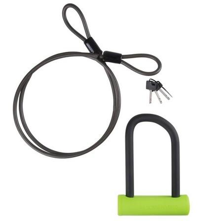 ELOPS - Unique size  920 Mini D Lock & Cable Set, Sunflower