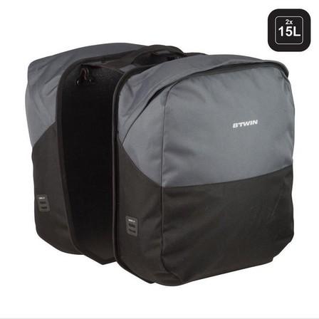 ELOPS - Unique size  Double Bag 100 - 2 x 15L, Black