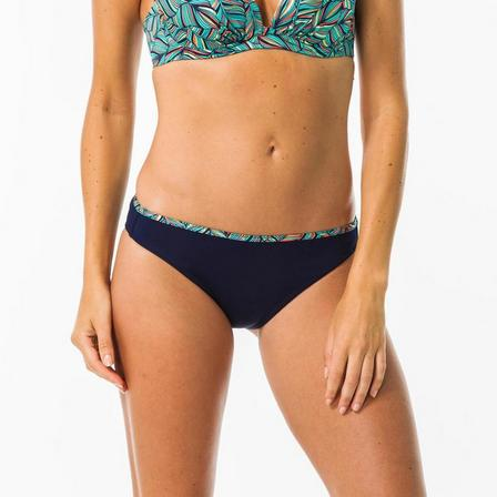 OLAIAN - Small/Medium  NINA HONOLUA women's bikini briefs swimsuit bottoms, Dark Blue