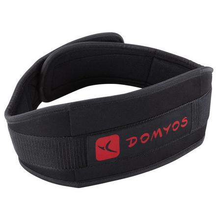 DOMYOS - Small/Medium  Weight Training Lumbar Belt Polyester, Black