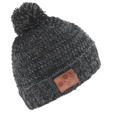 WEDZE - Unique Size  ADULT SKIING BLUETOOTH HAT - BLACK, Black
