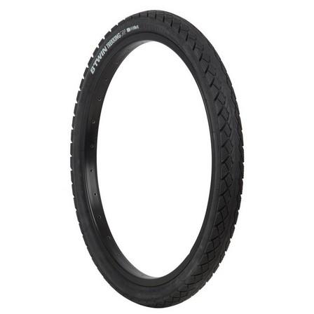 BTWIN - Unique size  Trekking Grip Hybrid Bike Tyre - 20x1.75, Black