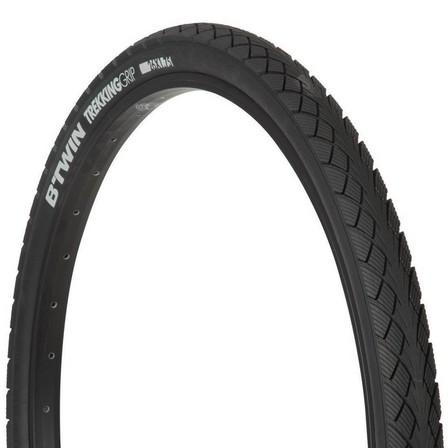 BTWIN - Unique Size  Trekking Grip Hybrid Bike Tyre - 26x1.75, Default