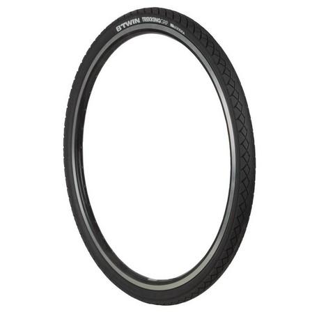 BTWIN - Unique Size  Trekking Grip Hybrid Bike Tyre - 700x42, Default
