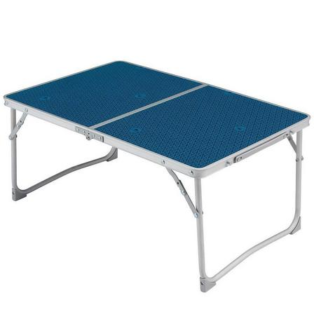 QUECHUA - Unique Size  FOLDING CAMPING COFFEE TABLE - MH100 - BLUE, Blue