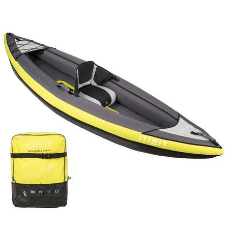 ITIWIT - Unique size  INFLATABLE TOURING KAYAK 1 PLACE YELLOW, Default