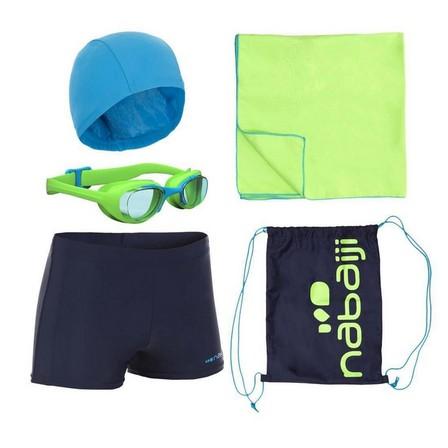 NABAIJI - 8-9Y  Boys' Swimming Set 100 Start, Fluo Lime