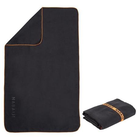NABAIJI - Unique size  Microfibre Pool Towel Size L 80 x 130 cm, Black