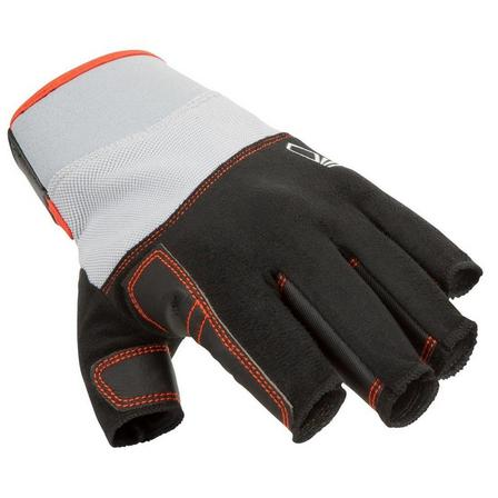 TRIBORD - Large  Adult sailing fingerless gloves SAILING 500, Black