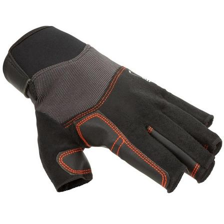 TRIBORD - 2XL  Adult sailing fingerless gloves SAILING 500, Black