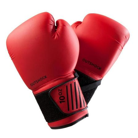 OUTSHOCK - 14 Oz  Beginner Boxing Gloves 100 - Red, Cherry Red