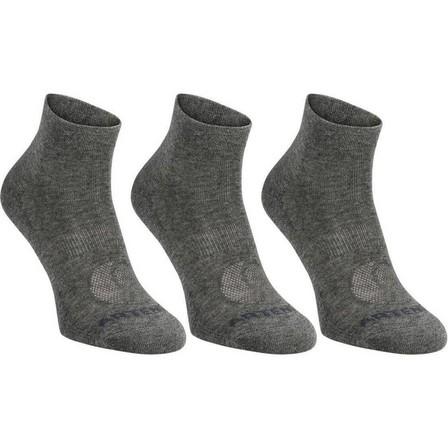 ARTENGO - EU 35-38  RS 160 Adult Mid-High Sports Socks Tri-Pack, Dark Grey