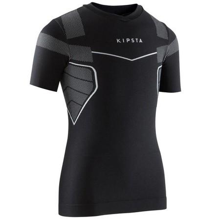 KIPSTA - 10-11Y  Keepdry 500 Kids' Base Layer - Black, Black