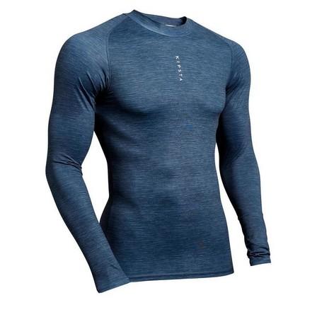 KIPSTA - Extra Large  Adult Long-Sleeved Football Base Layer Top Keepdry 100, Black