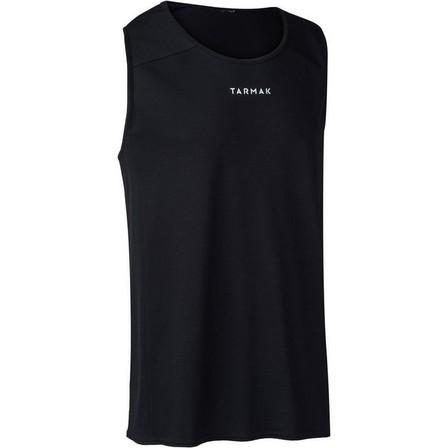 TARMAK - Large  Men's Sleeveless Basketball Jersey T100, Black