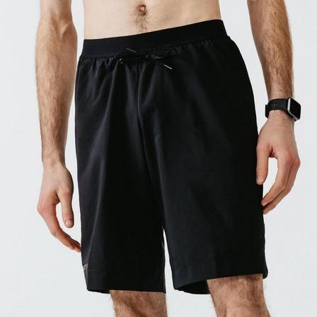 KALENJI - Large  Kalenji Dry+ Men's Running 2-in-1 Shorts With Boxer, Black
