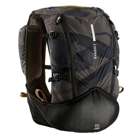 EVADICT - M/L  MIXED ULTRA TRAIL RUNNING BAG 15 L - BLACK/BRONZE, Black