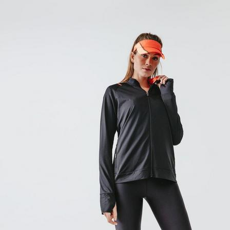KALENJI - Extra Large  Run Dry Women's Running Jacket, Black