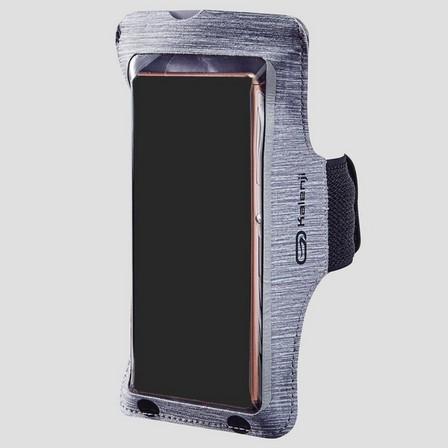 KALENJI - Unique Size  LARGE PHONE RNNING ARMBAND, Zinc Grey