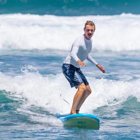 OLAIAN - 2XL  100 Men's Long Sleeve UV Protection Surfing Top T-Shirt, Snow White