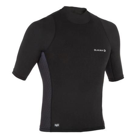 OLAIAN - Extra Small  500 men's short-sleeved UV-protection surfing T-Shirt, Black