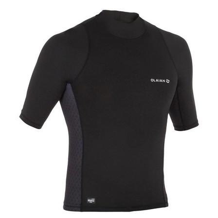 OLAIAN - Large  500 men's short-sleeved UV-protection surfing T-Shirt, Black