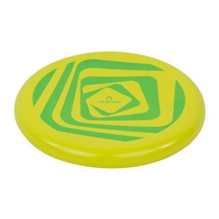 OLAIAN - Unique Size  DSoft Frisbee - Flag, Acid Green