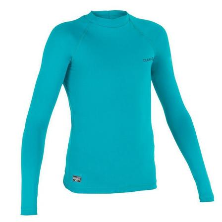 OLAIAN - 10-11Y  anti-UV T-shirt long-sleeved 100, Dark Peacock Blue