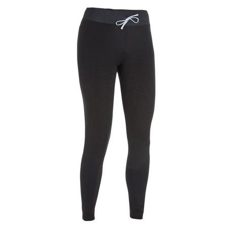 OLAIAN - Medium  500 women's anti-UV black surfing leggings, Black
