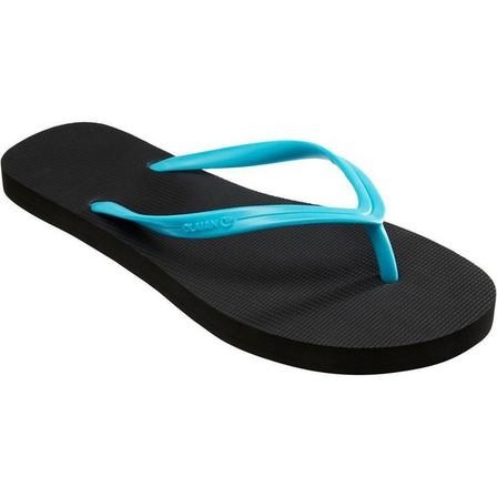 OLAIAN - EU 39-40  Women's FLIP-FLOPS 100 - Turquoise Black, Black