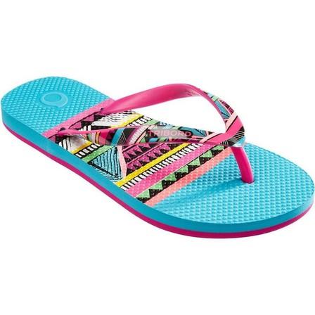 OLAIAN - EU 37-38  TO 500 G Sun Girls' Flip-Flops, Aquamarine