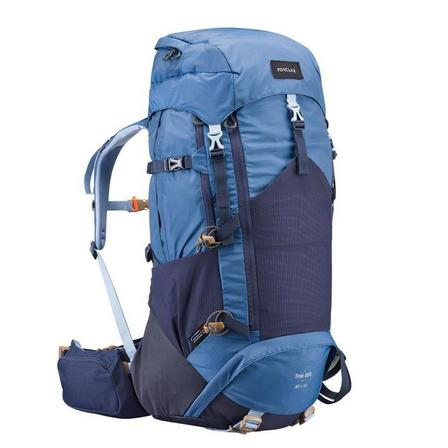 FORCLAZ - 50L  Woman's mountain trekking rucksack - TREK 500 50+10L - blue, Whale Grey