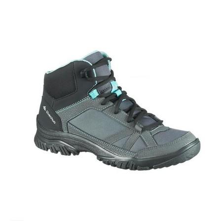QUECHUA - EU 38  Women's country walking shoes - NH100 Mid, Granite