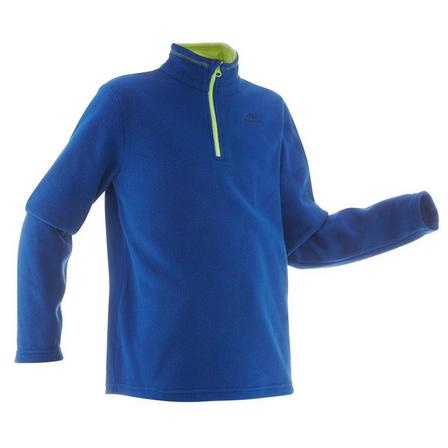 QUECHUA - 10-11Y  Kids' Hiking Fleece - MH100 Aged 7-15, Deep Blue