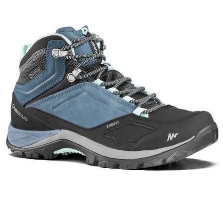 QUECHUA - EU 40  Women's waterproof mountain walking boots - MH500 Mid, Blue Grey