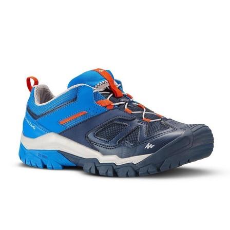 QUECHUA - EU 35  Boy's Low Mountain Walking Lace-up Shoes Crossrock Blue 3-5.5, Navy Blue