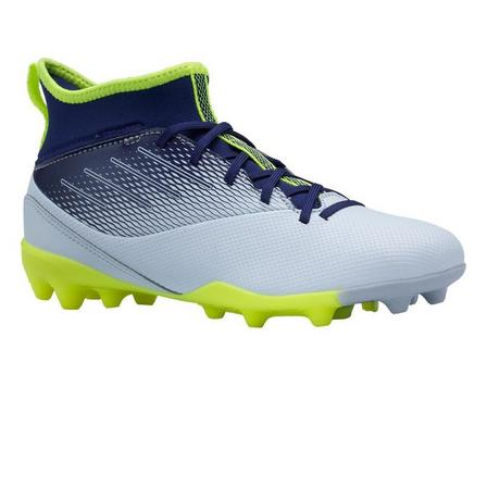 KIPSTA - EU 33  Agility 500 MG Kids' High-Top Football Boots, Foggy Blue