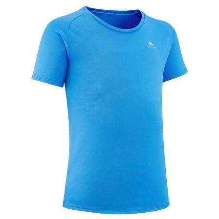QUECHUA - 10-11Y  Kids' Hiking T-Shirt - MH500 Aged 7-15, Pacific Blue