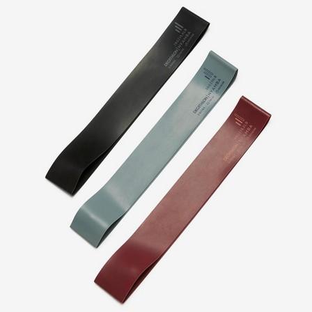 NYAMBA - Unique Size  Fitness 5-6-7 kg Short Elastic Rubber Bands Tri-Pack - Turquoise/Burgundy/Black, Deep Petrol Blue