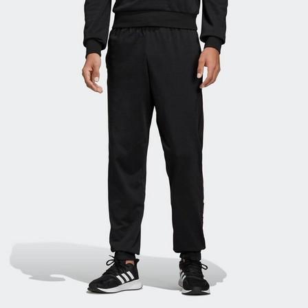 ADIDAS - Large  Men's Gym Tracksuit Bottoms - Black, Black